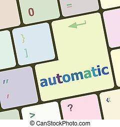 számítógép, gombol, ábra, vektor, kulcs, billentyűzet, automata