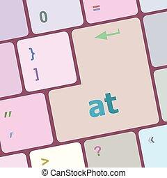 számítógép, gombol, ábra, vektor, kulcs, billentyűzet