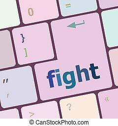 számítógép, gombol, ábra, verekszik, számítógép, vektor, kulcs, billentyűzet
