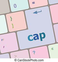 számítógép, gombol, sapka, ábra, vektor, kulcs, billentyűzet