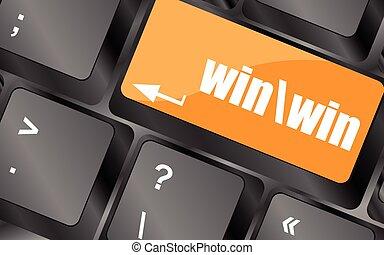 számítógép, győz, gombol, billentyűzet, ábra, vektor, kulcs