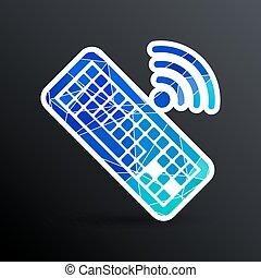 számítógép, illustration., aláír, vektor, kulcs, billentyűzet, ikon