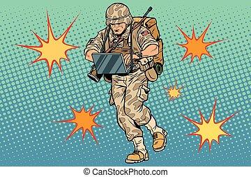 számítógép, katona, kibernetikai