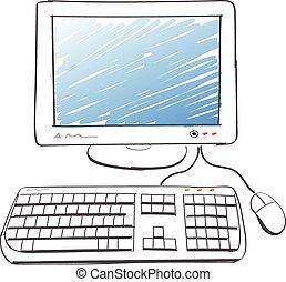 számítógép, rajz