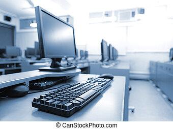 számítógépek, workplace, szoba