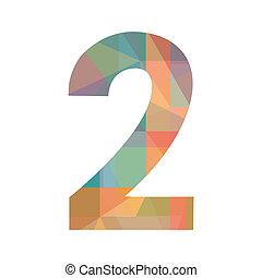 szám, színes, két