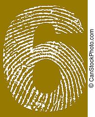 szám, ujjlenyomat, 6