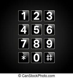 számok, keypad, digitális