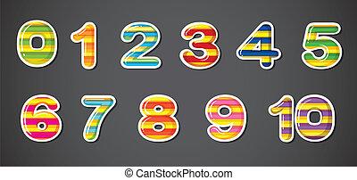 számok, színes