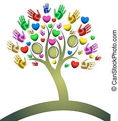 számolás, piros, fa, kéz