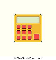 számológép, vektor, áttekintés, ábra, ikon