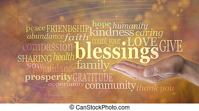 számol, áldások, -e