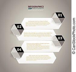 számozott, website, mód, grafikus, alaprajz, abc, modern, megvonalaz, horizontális, /, infographic, szalagcímek, vektor, tervezés, sablon, infographics, kapcsoló, vagy, minimális