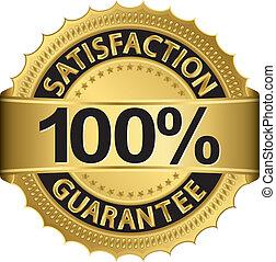 százalék, garantál, 100, megelégedettség