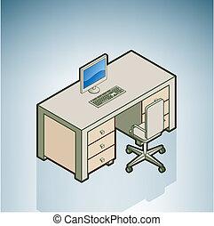 szék, hivatal asztal