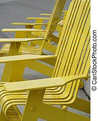 szék, külső, fém, sárga