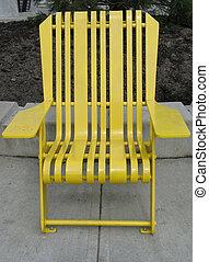 szék, liget, sárga