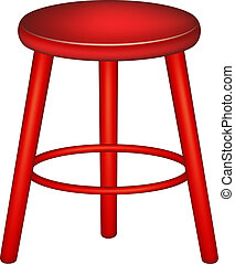 széklet, tervezés, retro, piros