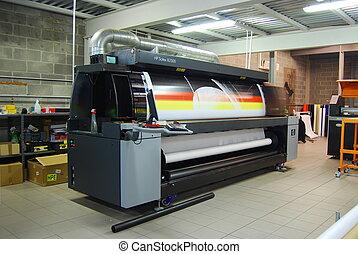 széles, alak, prin, -, nyomtatás, digitális
