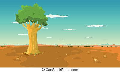 széles, belső, fa parkosít, alföld