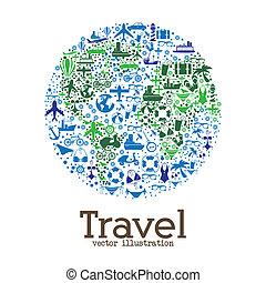 széles, utazás, világ