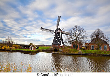 szélmalom, csatorna, holland