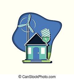 szélmalom, fény, épülethomlokzat, otthon, gumó