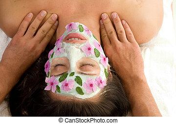 szépség bánásmód, maszk, masszázs