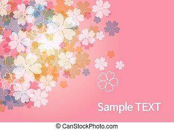 szépség, háttér, -, virág, rózsaszínű