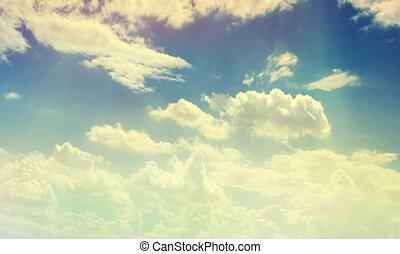 szín, ég, felhős