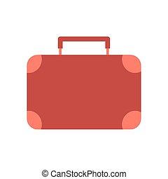 szín, bőrönd, utazás, piros
