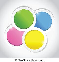 szín, circles., tervezés, ábra