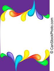 szín, csepp, ibolya, függőleges, háttér