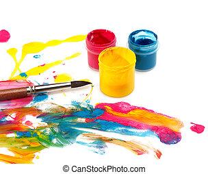 szín, elvont, fáj, háttér