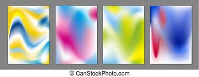 szín, elvont, folyik, ábra, vektor, háttér