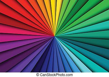szín, elvont, megvonalaz, színkép, háttér