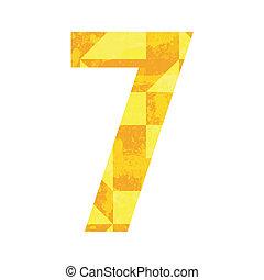 szín, elvont, szám 7
