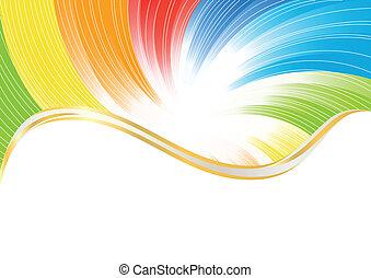 szín, elvont, vektor, fényes, háttér
