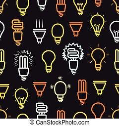 szín, fény, lámpa, seamless, háttér