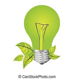 szín, fény, zöld, árnykép, gumó