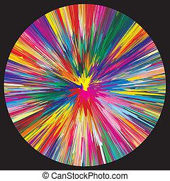 szín, fekete, felrobbanás, háttér
