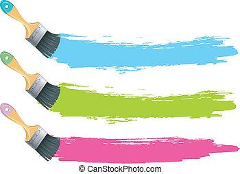 szín, festék csalit, loccsan