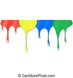 szín, festék, csepegtet
