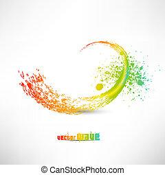 szín, festék, loccsan