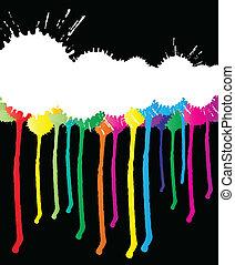 szín, festék, vektor, loccsan, háttér
