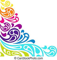 szín, háttér., elvont, loccsanás, lenget