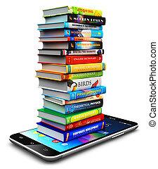 szín, hardcover, smartphone, előjegyez, kazal