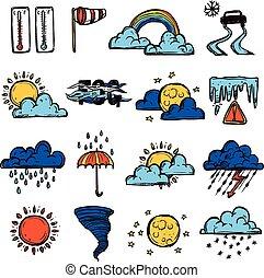 szín, időjárás, állhatatos