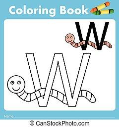 szín, könyv, illusztrátor, féreg, állat