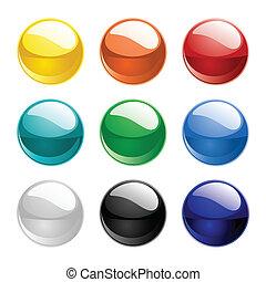 szín, körök, vektor